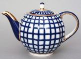 Cobalt Cell 3-Cup Teapot