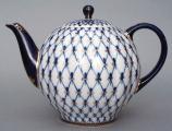 Cobalt Net 10-Cup Teapot