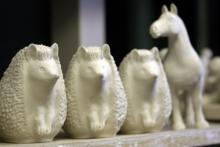"""Animal sculpture is made of """"soft"""" porcelain, kilned at temperatures up to 1280°C/2336 F°. It consists of the same components but with  higher content of feldspar."""