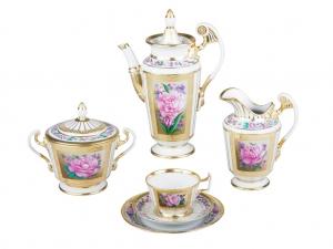Porcelain Espresso/Coffee Set Alexandria Recollection 21 pc