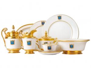 Lomonosov Porcelain 24-piece Cottage  Dinner Set for 6