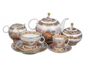 Lomonosov Porcelain Tea Set Landscape Frieze for 6/20