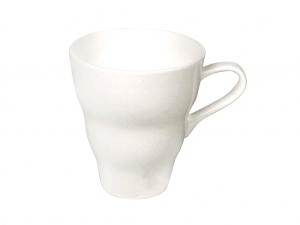Imperial Porcelain Bone China Porcelain Mug Wavy White 14.2 fl.oz/420 ml