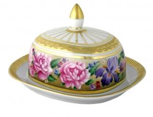 Lomonosov Imperial Porcelain Butter Holder Dish Alexandria Recollection