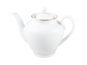 Lomonosov Imperial Porcelain Teapot Spring Snow White 27 oz/800 ml