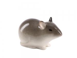 Baby Mouse Pale Yellow Lomonosov Porcelain Figurine