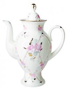 Lomonosov Imperial Porcelain Bone China Coffee pot Classic-2 Galant 21.3 fl.oz/630 ml