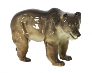 Brown Bear BIG Lomonosov Porcelain Figurine