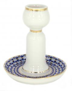 Decorative Candle Holder Cobalt Net Lomonosov Imperial Porcelain