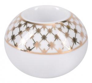 Lomonosov Porcelain Round Candle Holder Jazz Golden Net