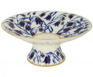 Lomonosov Imperial Porcelain Candy Vase Bluebells 7.6