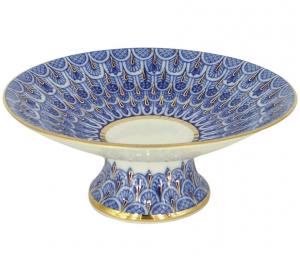 Lomonosov Imprerial Porcelain Candy Vase Forget me Not 7.6