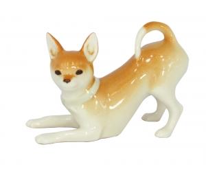 Chihuahua Dog Playing Lomonosov Imperial Porcelain Figurine