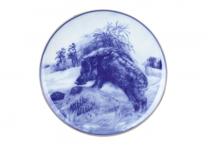 Decorative Wall Plate 2019 Year of PIG Wild Boar (1) 7.7195 mm