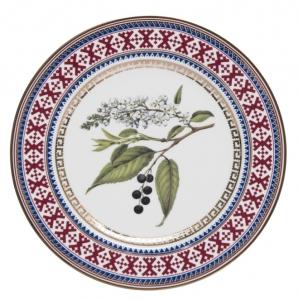 Decorative Wall Plate Bird-Cherry Tree 10.6