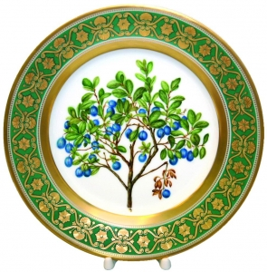 Decorative Wall Plate Blueberries 10.4