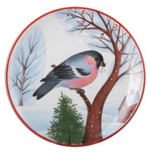 Decorative Wall Plate Bullfinch Red Breast 7.7