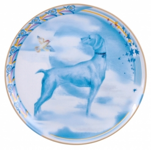 Decorative Wall Plate 2018 Year of Dog Blue Pointer 7.7