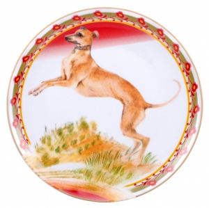 Decorative Wall Plate 2018 Year of Dog Italian Greyhound 7.7