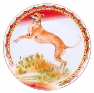 Decorative Wall Plate 2018 Year of Dog Italian Greyhound 7.7\