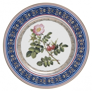 Decorative Wall Plate Dog Rose 10.6