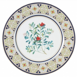 Decorative Wall Plate Foxberry Lomonosov Imperial Porcelain