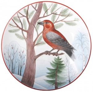 Decorative Wall Plate Parrot Сrossbill 7.7
