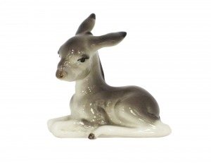 Donkey Lying Lomonosov Imperial Porcelain Figurine