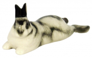 Easter Bunny Rabbit Lazy-Bones Lomonosov Imperial Porcelain Figurine