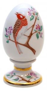 Easter Egg on Stand Bunting Bird Lomonosov Imperial Porcelain