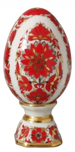 Easter Egg on Stand Russian Patterns Lomonosov Imperial Porcelain