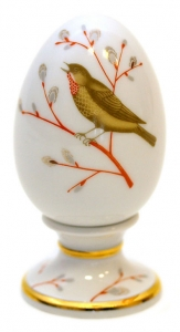 Easter Egg on Stand Spring Song Lomonosov Imperial Porcelain