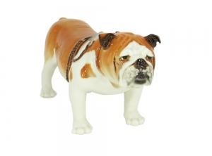 English Bulldog Lomonosov Figurine | Lomonosov Russia - Factory Direct