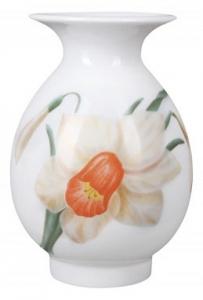 Flower Vase Birch Narcissus Lomonosov Imperial Porcelain