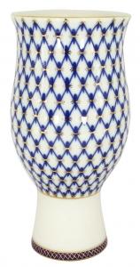Flower Vase Cobalt Net Lomonosov Imperial Porcelain