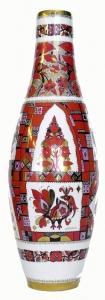 Flower Vase High Folk Patterns 20