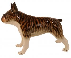 French Bulldog Lomonosov Porcelain Figurine