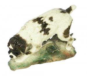 German Griffon Dog Lomonosov Imperial Porcelain Figurine