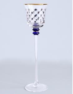 Imperial Porcelain Factory Glass Candlestick Cobalt Net