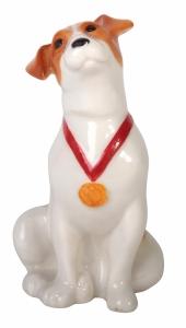 Jack Russell Terrier Dog Sitting Lomonosov Figurine