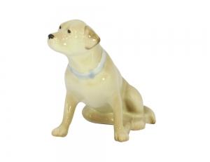 Labrador Dog Straw-Colored Lomonosov Porcelain Figurine