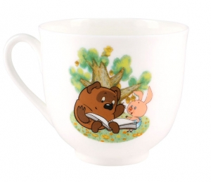 Lomonosov imperial Bone China Cup and Saucer Winnie the Pooh