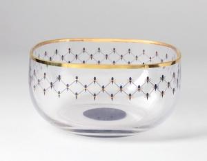 Lomonosov Imperial Glass Bowl for Nuts Cobalt Net 60.9 oz/1800 ml