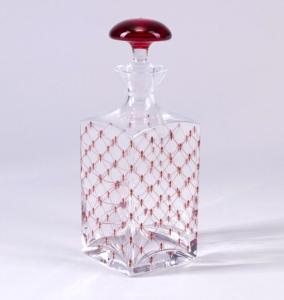 Lomonosov Imperial Glass Cognac Decanter Red Net 33.8 oz/1000ml