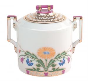 Lomonosov imperial Porcelain Sugar Bowl Moscow River