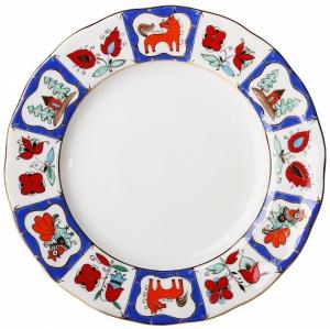Lomonosov Imperial Porcelain Cake Dessert Plate Tulip Russian Lubok