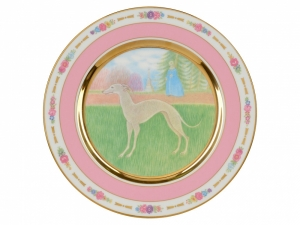 Decorative Wall Plate Italian Greyhound Dog 10.7\