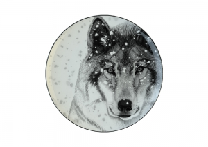 Lomonosov Porcelain Decorative Wall Plate Totem Animal WOLF 9.1 in 230 mm