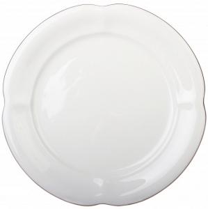 Lomonosov Imperial Porcelain Dessert Plate Golden Ribbon Natasha