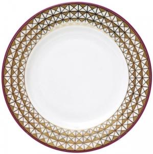 Lomonosov Imperial Porcelain Dessert Plate Moscow River Flat 7.5
